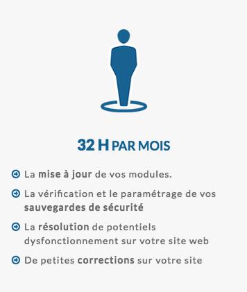 32h de régie web par mois