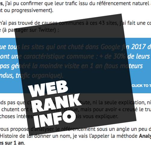 Apprendre le SEO - Site d'information sur le référencement Web Rank Info