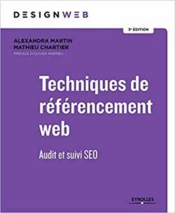 Techniques de référencement web - Audit et Suivi SEO livre sur Amazon